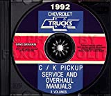 STEP-BY-STEP 1992 CHEVROLET TRUCK & PICKUP FACTORY REPAIR SHOP & SERVICE MANUAL CD Includes C/K Trucks, Silverado, Cheyenne, Suburban, Blazer, Regular, Crew & Extended Cab 1500, 2500, 3500