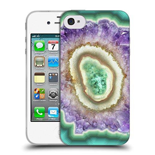 Officiel Monika Strigel Cristal Améthyste Étui Coque en Gel molle pour Apple iPhone 4 / 4S