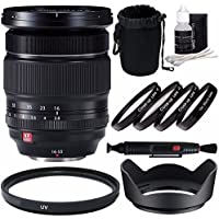 Fujifilm XF 16-55mm f/2.8 R LM WR Lens + 77mm +1 +2 +4 +10 Close-Up Macro Filter Set with Pouch + 77mm Multicoated UV Filter Bundle 6