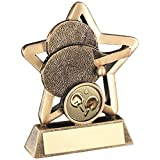 Lapal Dimension BRZ/GOLD TABLE TENNIS MINI STAR TROPHY - (1in CENTRE) 3.75in