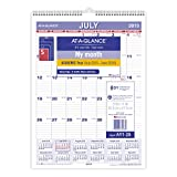AT-A-GLANCE Monthly Wall Calendar, Academic Year, 12 Months, July 2015-June 2016, 8 x 11 Inch Page Size (AY-128)