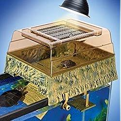 Penn Plax Reptology Life Science Turtle-Topper Above-Tank Basking Platform (Natural Green)