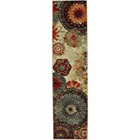 Mohawk Contemporary Runner Area Rug 2x5 in Multi Color From Strata Collection