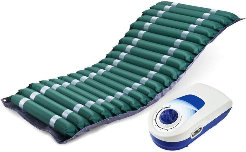 HIZLJJ 床ずれのために交互に圧力マットレスエアトッパーパッドは、潰瘍の予防、寝たきりインフレータブル、静かな代替カバーが - 病院のベッドに適合 - 電動ポンプシステムは、