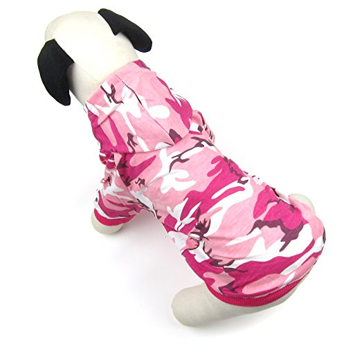 Alfie Pet by Petoga Couture - Meredith Military Hoodie - Color: Pink Camo, Size: Large - Camo Dog Hoodie Clothes