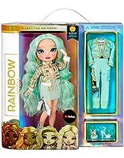 Rainbow High Fashion Doll - Verzamelbaar speelgoed voor kids - met 2 outfits voor Mix & Match en poppen accessoires - Leuk cadeau voor kinderen van 6-12 jaar, DAPHNE MINTO - Mint (Licht groen)
