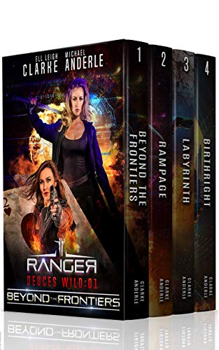 4-in-1 BOXED SET ALERT! Rip-roaring, bar brawling adventures to save the frontier from slavery, arms dealing and the 'Skaine' of the universe…Deuces Wild Boxed Set by Ell Leigh Clarke and Michael Anderle