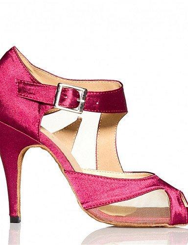 ShangYi Chaussures de danse(Noir / Rouge) -Personnalisables-Talon Personnalisé-Satin-Latine / Jazz / Salsa / Samba / Chaussures de Swing , black-us6 / eu36 / uk4 / cn36 , black-us6 / eu36 / uk4 / cn36