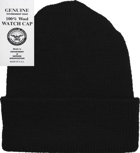 Navy Wool Watch Cap - Black Military Genuine GI US Department of Defense Wool Watch Cap