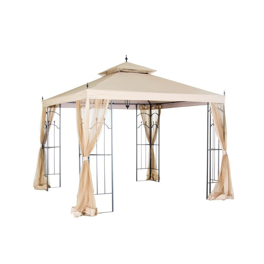 Hampton Bay Replacement Canopy for 10 ft. x 10 ft. Arrow Gazebo 61821-CPY