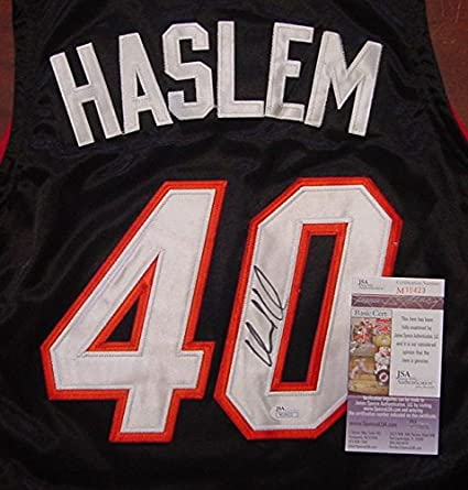 4fc414963e8 Udonis Haslem Miami Heat Autographed Black  40 Jersey Size 50 JSA COA at  Amazon s Sports Collectibles Store