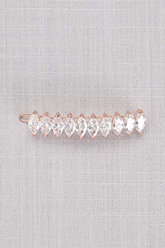 Marquise Cubic Zirconia Barrette Style HJ23601, Rose Gold