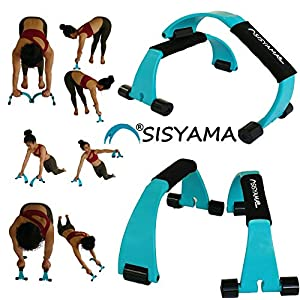 SISYAMA Pushup Set Push Up Bar Non-Slip Handles Ab Roller Core Fitness Wheel Abdominal Press