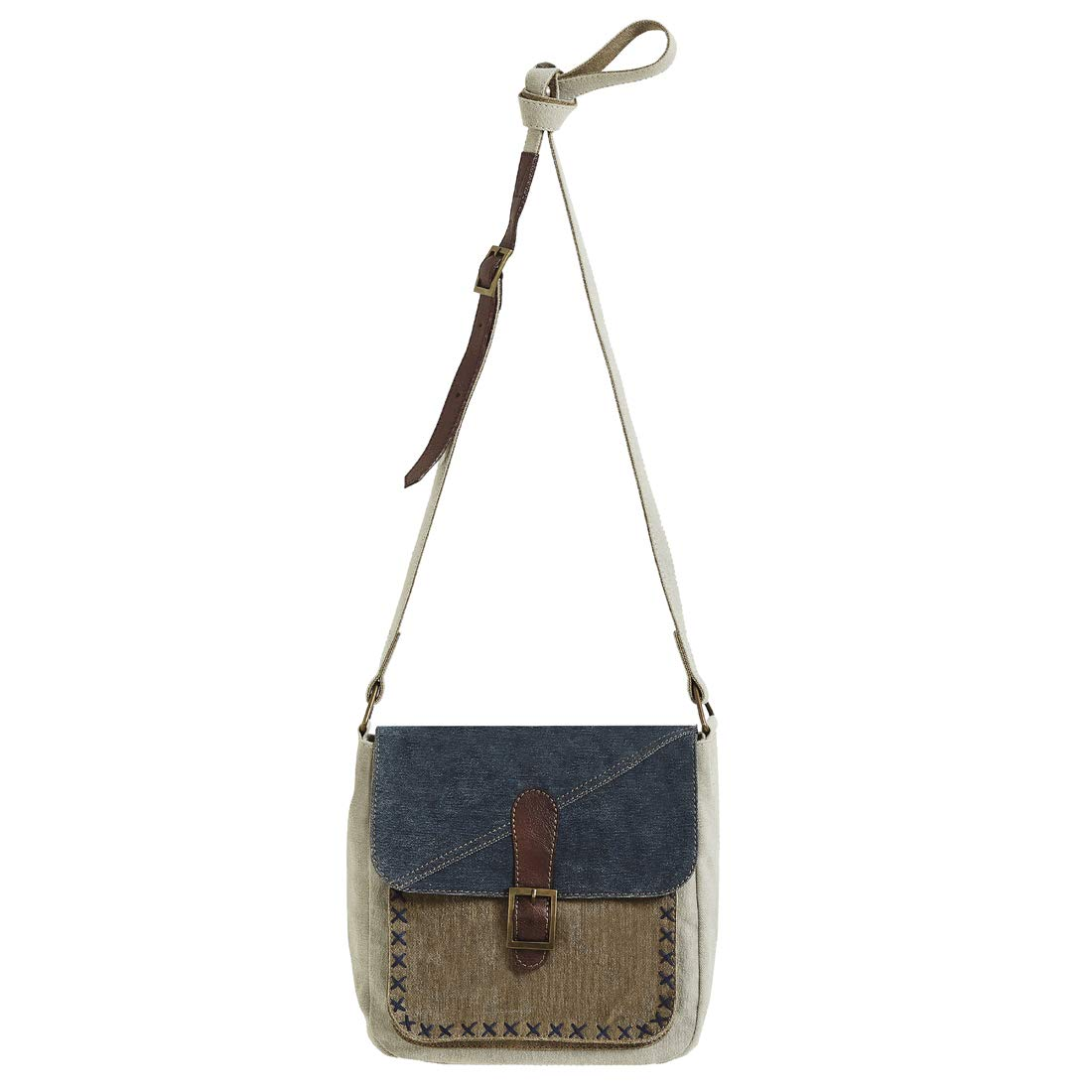 Mona B Purse Women's Upcycled Canvas Luna Crossbody Shoulder Bag