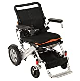 F KD FoldLite Lightweight, Portable, Aluminum Alloy, Electric Power Wheelchair, Rechargeable Lithium Battery & Anti-tip Wheels, Supports up to 330 lbs