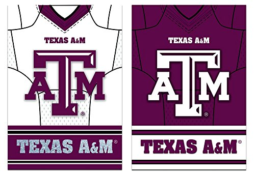 Team Sports America Texas A&M Aggies Double Sided Jersey Suede Garden Flag, 12.5 x 18 inches