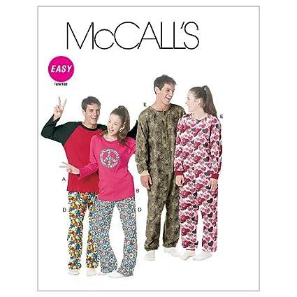 McCalls Patterns M6251 - Patrón e instrucciones para coser pijamas y esquijamas (para tallas de
