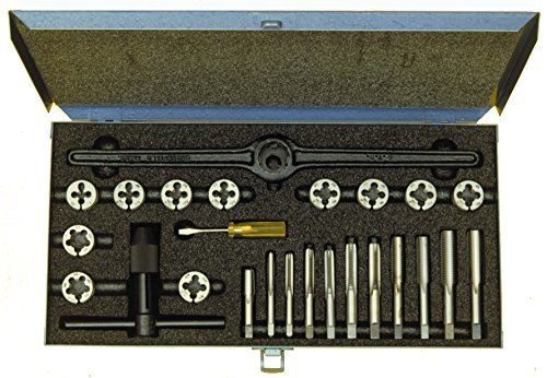 Cle-Line C00528 No 528 Tap and Die Set, 10 Pieces by Cle-line