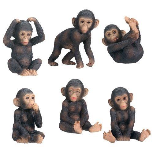Monkey Chimp Chimpanzee Statue African Animal Garden Sculpture Hanging Art Decor
