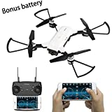 RTOS YH-19 FPV Mini Drone with 720P HD WIFI Camera Live Video,2.4Ghz 6-Axis 4 LED Selfie Drone for Kids & Beginners,One Key to Take Off,Altitude Hold,Gravity Sensor TWO BATTERIES