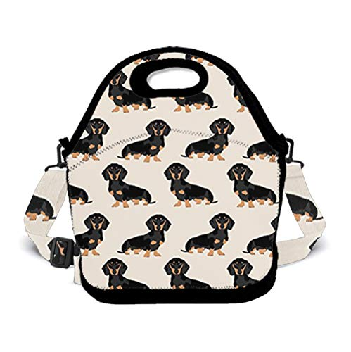 POP MKYTH Halloween Dachshund Weiner Dog Pet Insulated Lunch Box Lunch Tote Bag School Backpack with 3D Adjustable Shoulder Strap for Women Men Girls Boys Kids Student ()
