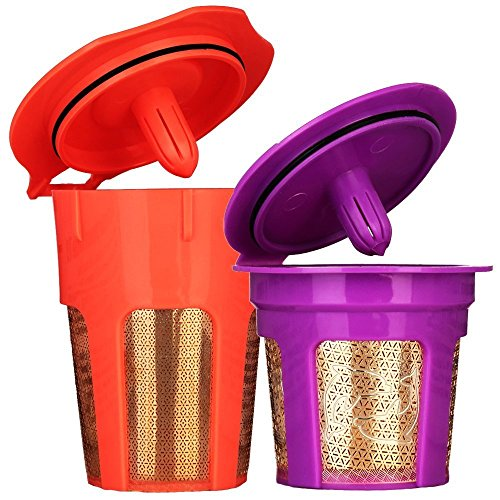 MG Coffee 24K Gold Reusable K Cup and K Carafe Coffee Filter Pod for Keurig 2.0 K200, K300, K400, K500 Series and 1.0 Brewers