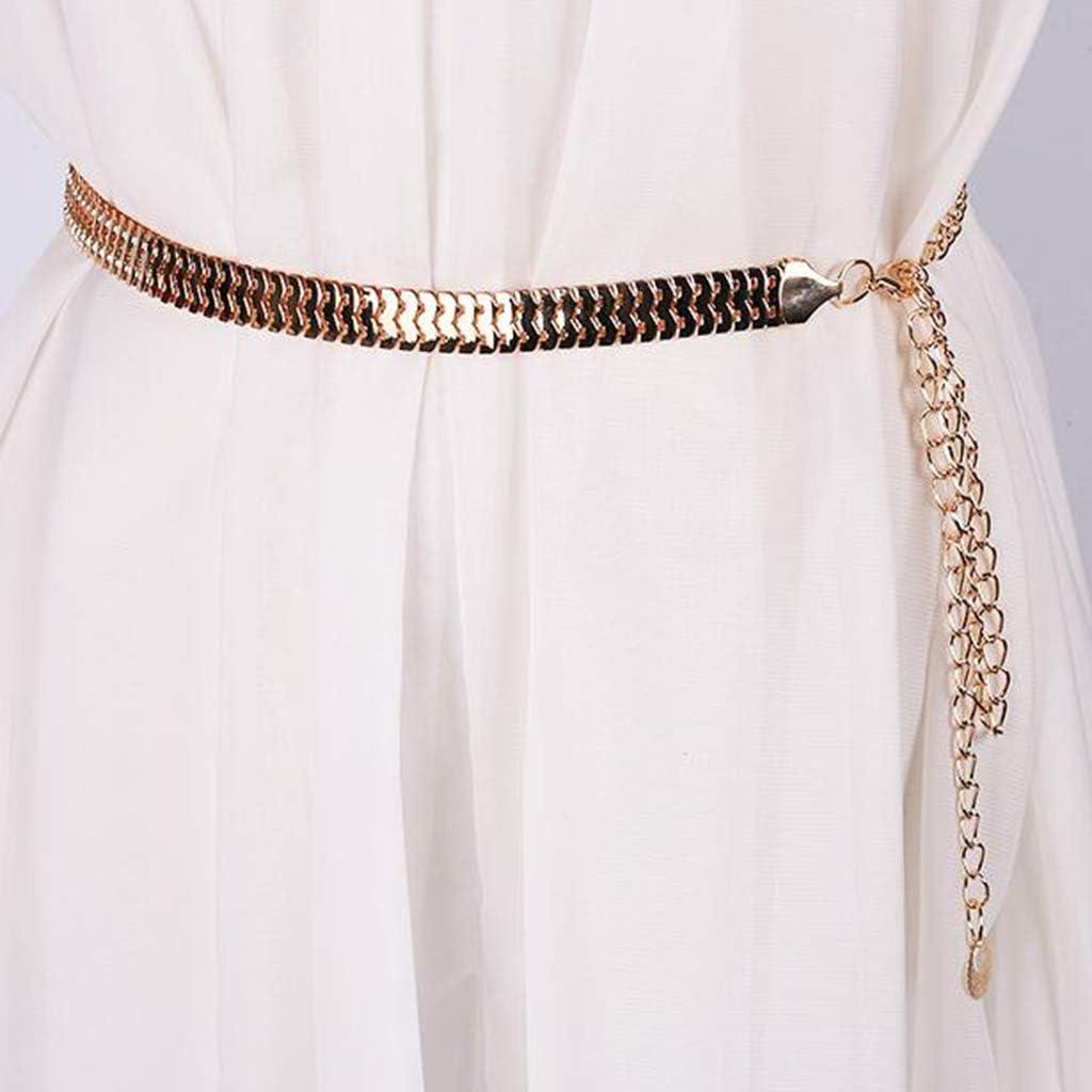 F Fityle Cintura Vita Girocollo Metallo Elegante Attraente Accessorio Moda Per Regalo Donna Ragazza