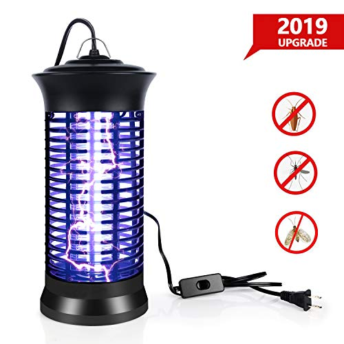 BUGMASTER UV Insect Killer, 2019 New Upgrade Bug Zapper, Electric Mosquito Killer lamp with Hanging and Switch, Best Indoor Mosquitoes/Moths/Insect Zapper for Bedroom,Kitchen and Office etc.