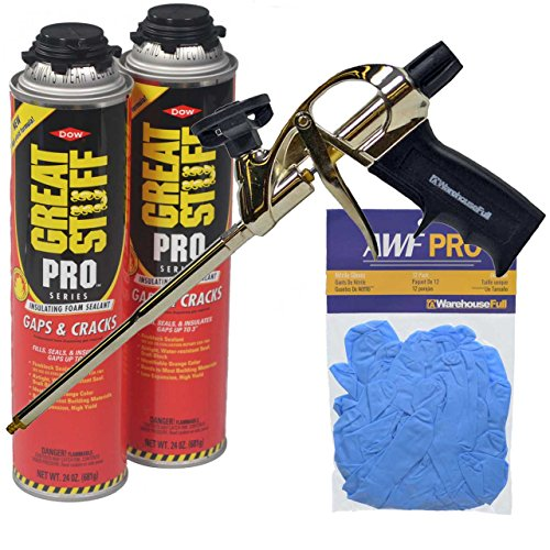 (Dow Great Stuff Pro Gaps and Cracks Foam Sealant Kit with Foam Gun and)