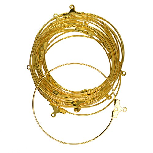 Dovewill 20 Pieces/ Lot Antiqued Brass Beading Hoop Earring Findings 40mm Ring Hoop Jewelry Making Crafts - Gold