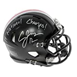 Cardale Jones Autographed Ohio State Buckeyes Black Mini Helmet - Green Buckeye Decal - 14 National Champs!