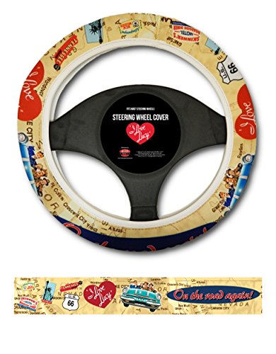 Steering Wheel Cover - Lucy Road Trip