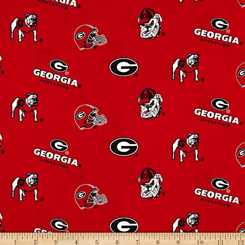 Sykel Enterprises Collegiate Cotton Broadcloth University of Georgia Fabric By The ()