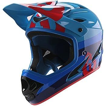 SixSixOne - Comp Bike Helmet, Bolt, Red/Blue, CPSC, Large