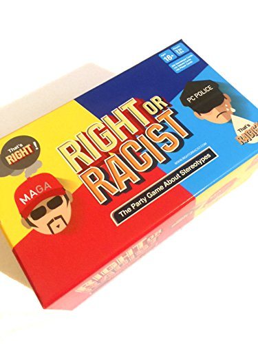 Right Or Racist  Adult Party Game Hilarious Drinking NSFW Game  Secret Santa Gift