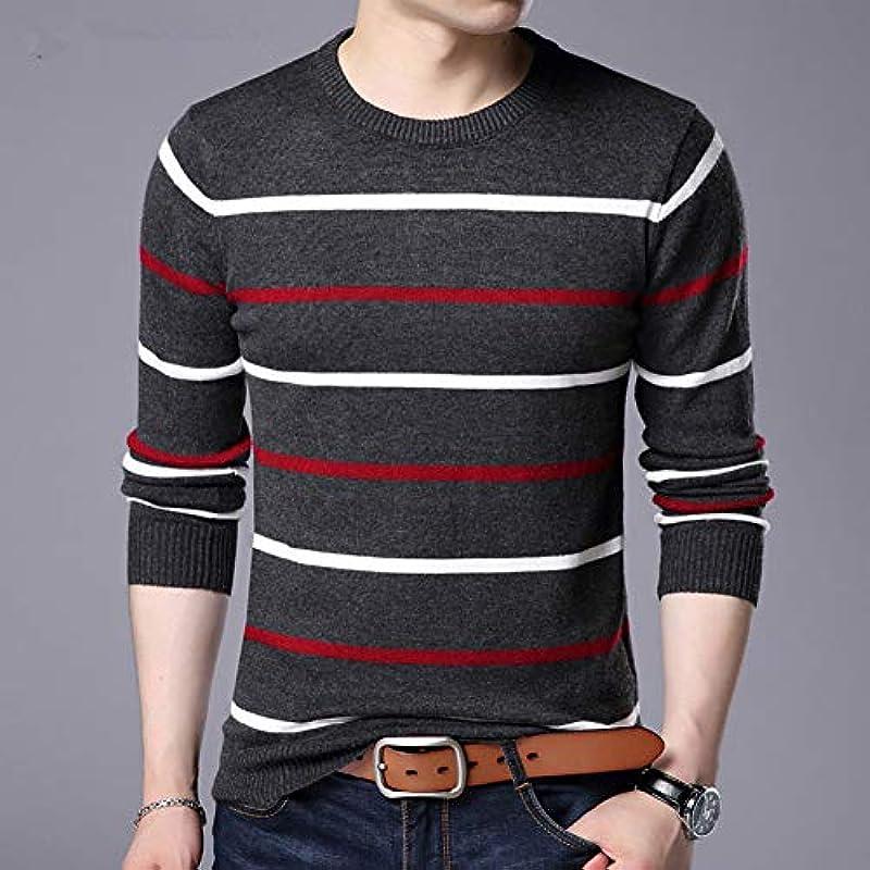 Pullover Męskie Herbst Winter Wolle Slim Fit Sweater Męskie Casual Striped Pull Jumper Męskie: Küche & Haushalt