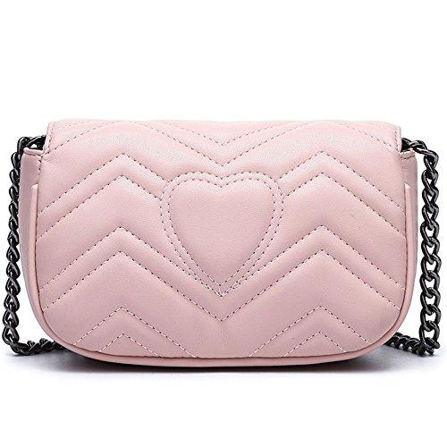 Cross à Noir Soirée Petite Pink Sac 90327 Mini Bal Sac Body Chaîne Embrayage Femmes à Bandoulière De Main Sac aP00AWnp