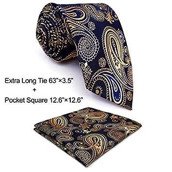 Shlax& Wing Multi-colored Paisley Dark Blue Neckties Men Tie Wedding Fashion Shlax & Wing U10-H