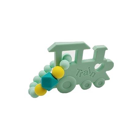 INCHANT masticable tren cilindro de silicona Mordedor - no tóxico, BPA, látex y ftalato