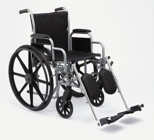 K1 Basic Wheelchair - Excel K1 Basic Extra-Wide Wheelchairs, WHEELCHAIR,20IN,K1,BASIC,DLA,ELEV LEG - 1 EA, 1 EA