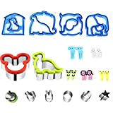 Mickey Mouse Cookie Cutter, Stainless Steel Sandwiches Cutter Biscuit Mold Cookie Cutter for Kids Suitable for Cakes and Cookie 22 Pcs Sandwiches Cutter