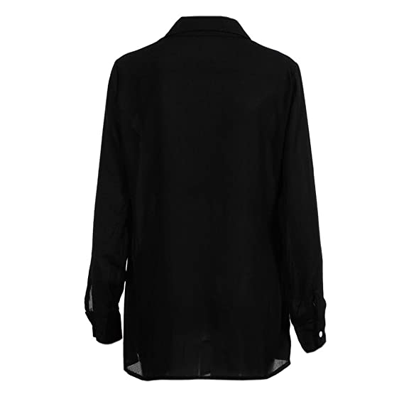 69187321fee kingfansion Women Button Wrap Shirt Top Long Sleeve V-Neck T Shirts Tunic  Blouse  Amazon.ca  Clothing   Accessories