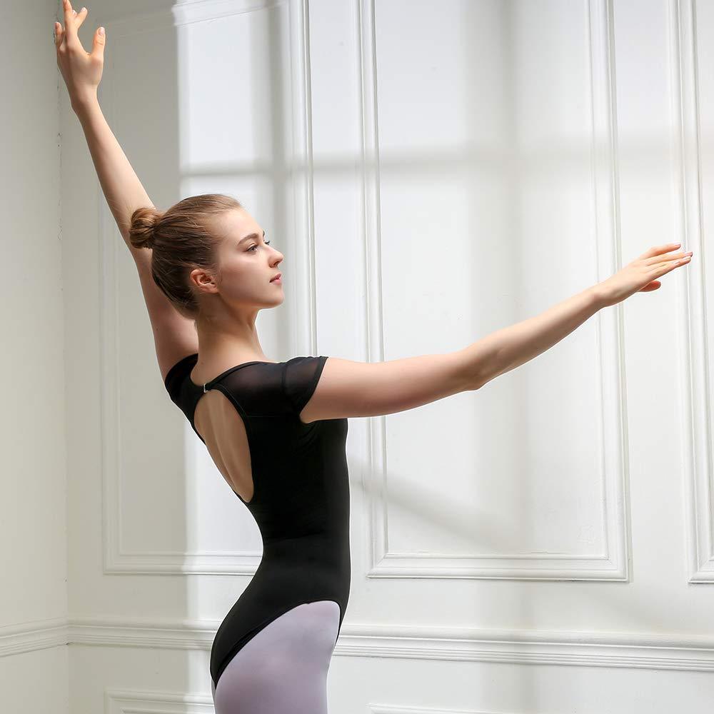 Bezioner Justaucorps de Danse Classique Ballet Gymnastique Danseuse Costume Dos Nu pour Les Femmes et Les Filles