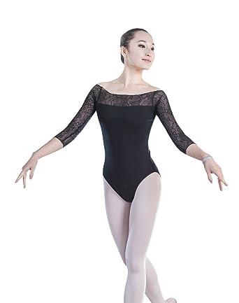 ZKOO Femmes Robe de Danse Manches Longues Justaucorps Ballet Gymnastique   Amazon.fr  Vêtements et accessoires 81e50c95faa