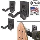 US2U Displays – 3 Pack - Skateboard or Longboard Wall Mount Hanger – US06-FW-S3