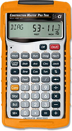 Calculated Industries 4080 Construction Master Pro Trig Calculator (Convert Inches To Feet And Inches Calculator)