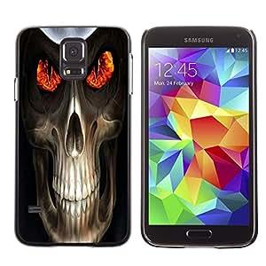 LECELL -- Funda protectora / Cubierta / Piel For Samsung Galaxy S5 SM-G900 -- Evil Skull Death Reaper --