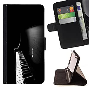 For LG G4 H815 H810 F500L Piano Keys Style PU Leather Case Wallet Flip Stand Flap Closure Cover