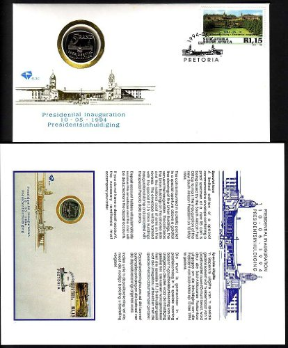 (South Africa First Day Cover Nelson Mandela Inauguration Proof Coin Special)