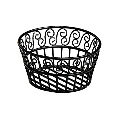 American Metalcraft (BLSB93) 9  Scroll Design Wrought Iron Round Bread Basket